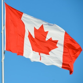 Canadian Flag Waver